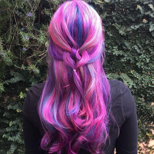 28 Colorful Rainbow Hair Ideas Trending In 2019