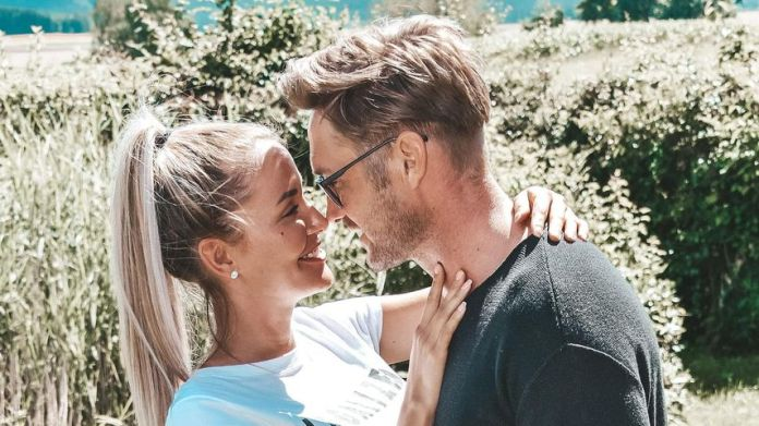 Nico Schwanz with his girlfriend Julia Prokopy