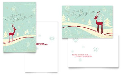 Greeting Card Templates InDesign Illustrator Publisher