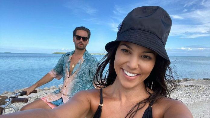 Scott Disick and Kourtney Kardashian in October 2020