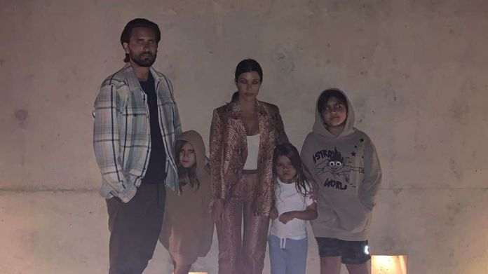Scott Disick, Penelope, Kourtney Kardashian, Reign and Mason