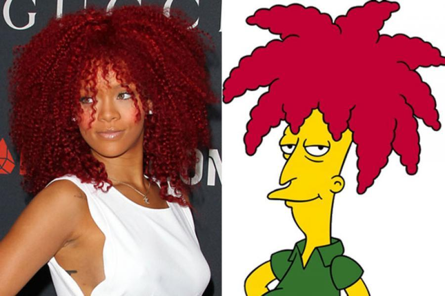 Rihanna - Sideshow Bob (The Simpsons)