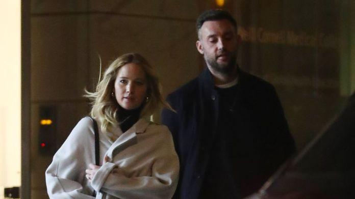 Jennifer Lawrence, her fiancé, Cooke Maroney in New York