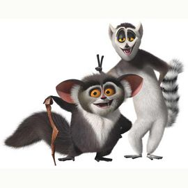 Madagascar lemurs from the cartoon Madagascar