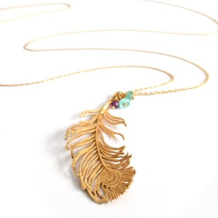 #6 Feather necklace