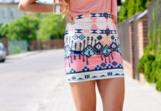 aztec skirt pink