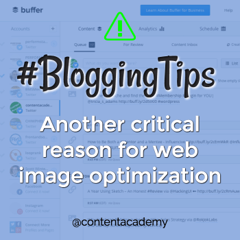 Another critical reason for web image optimization