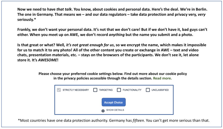Funny cookie consent