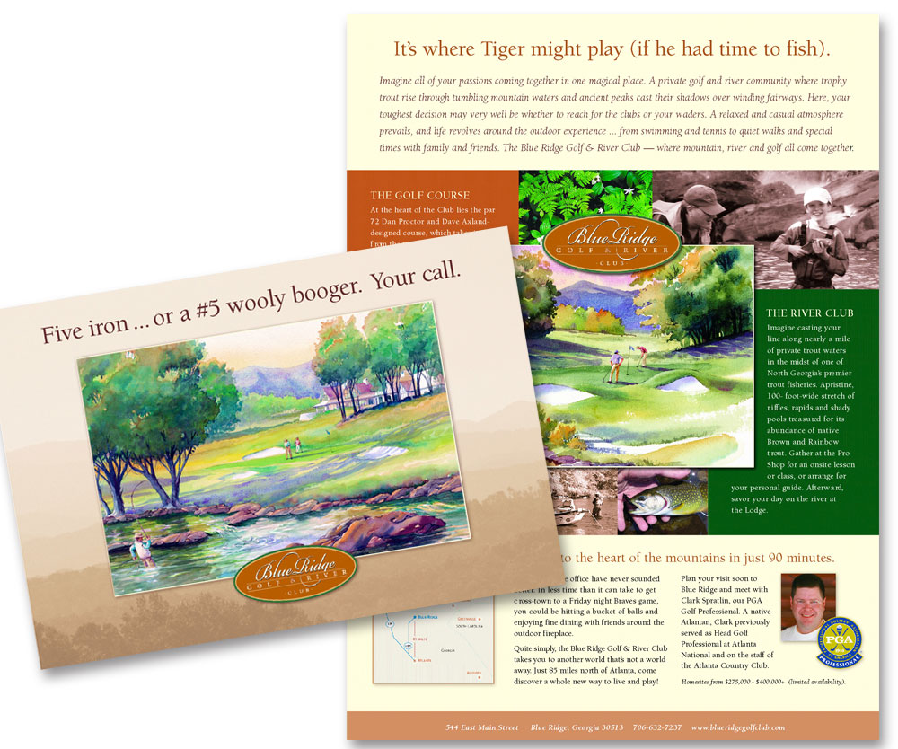sample golf club mailing