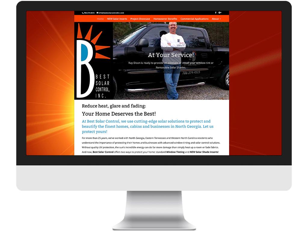 Best Solar Control website sample