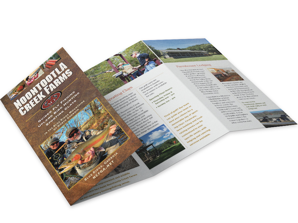 Sample brochure created by Content Creative