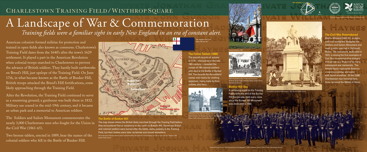 Charlestown Training Field War and Commemoration