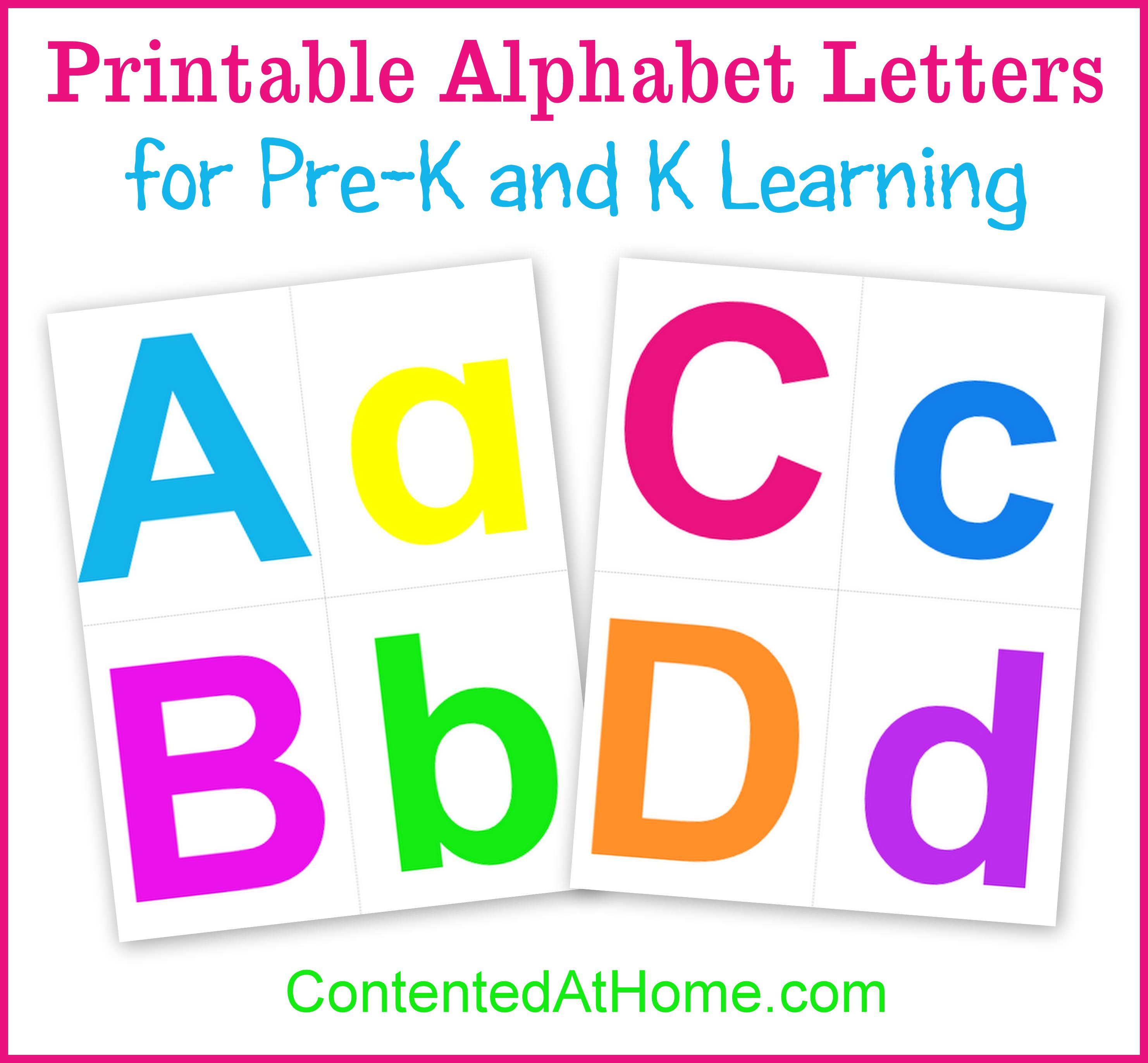 Printable Alphabet Letters