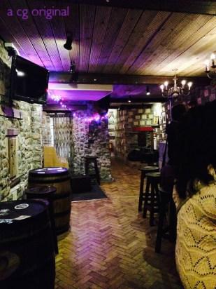 The pub inside the Abbey Court hostel in Dublin, Ireland