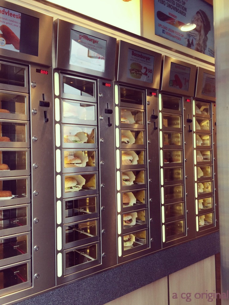 Burger vending machine found in amsterdam