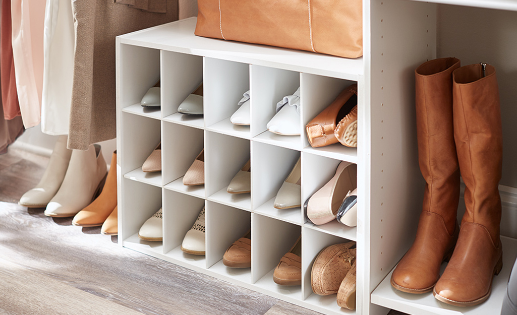 محاذاة درجة تقصر closet shoe storage ideas