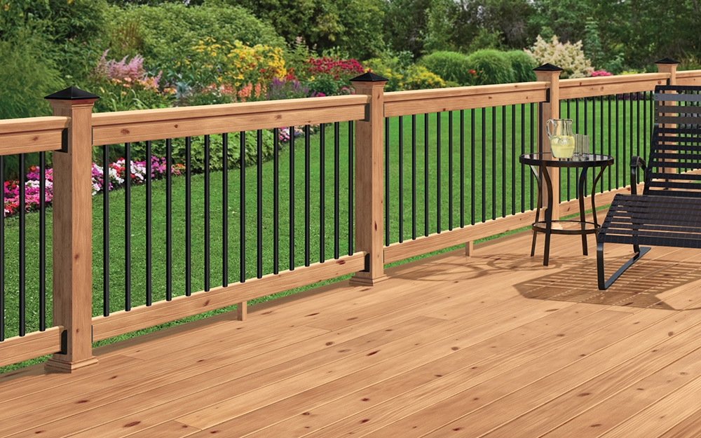 Best Decking Materials For Your Yard The Home Depot | Home Depot Deck Handrail | Stairs | Face Mount | Aluminum Balusters | Cable Railing Kit | Southern Yellow Pine
