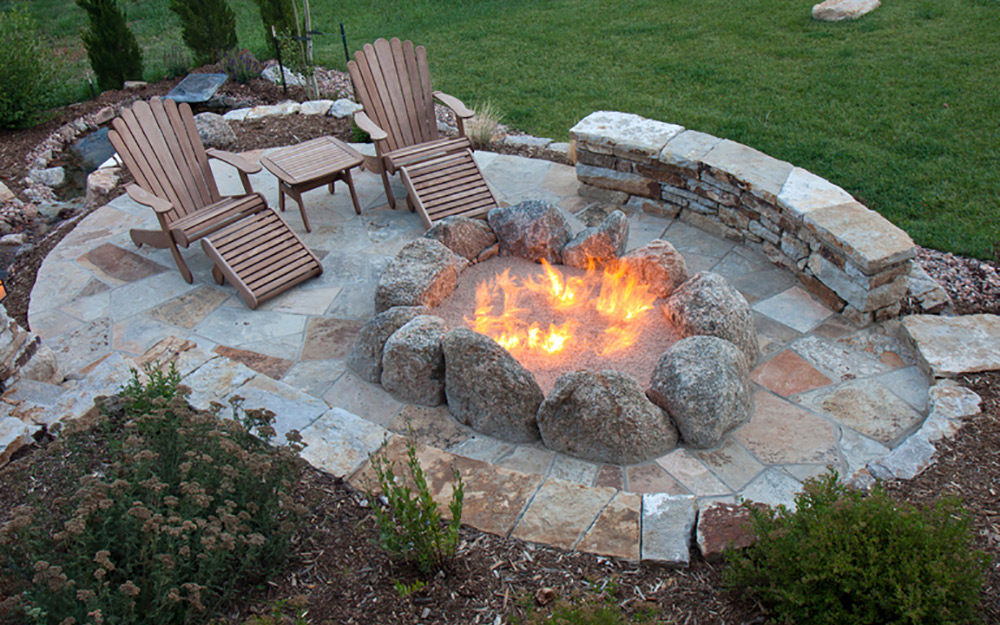 10 Sizzling Hot Outdoor Fire Pit Spaces - The Home Depot on Home Depot Patio Ideas id=26995