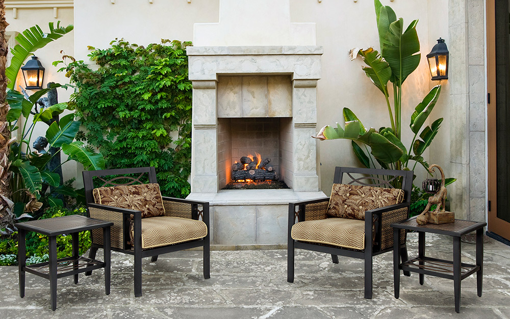 Outdoor Fireplace Ideas - The Home Depot on Outdoor Fireplaces Ideas  id=75890