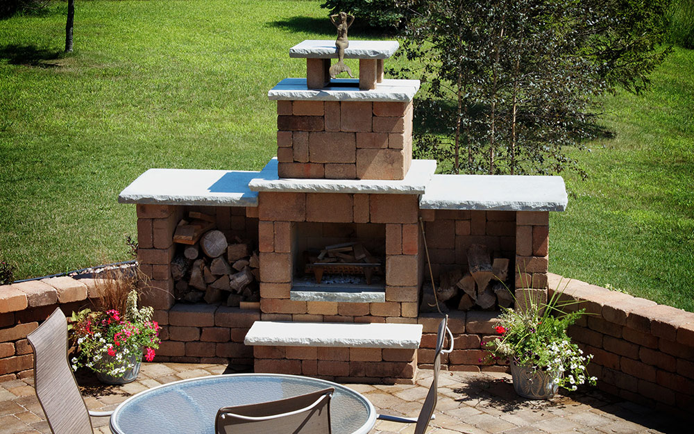 Outdoor Fireplace Ideas - The Home Depot on Small Outdoor Fireplace Ideas id=52331