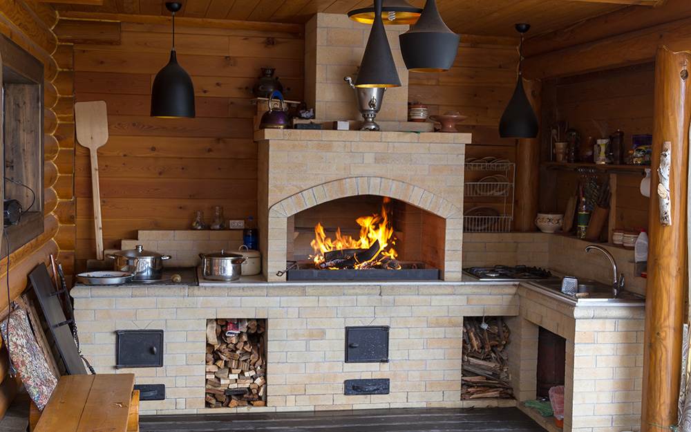 Outdoor Fireplace Ideas - The Home Depot on Outdoor Kitchen And Fireplace Ideas id=23095
