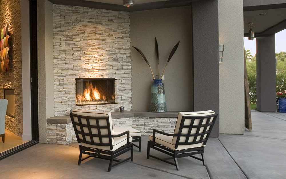 Outdoor Fireplace Ideas - The Home Depot on Outdoor Fireplaces Ideas  id=75924