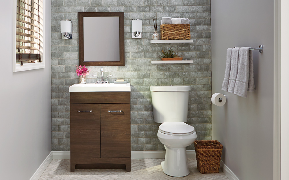 8 Small Bathroom Design Ideas - The Home Depot on Bathroom Ideas Small  id=68062