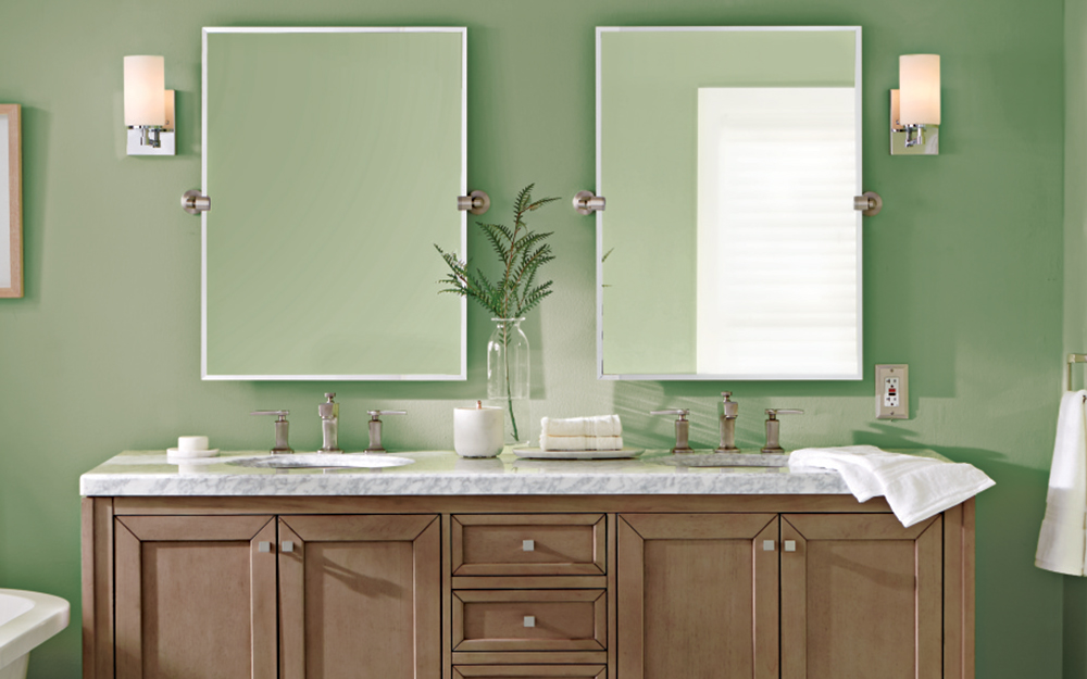 Vanity Light Height - The Home Depot on Height Of Bathroom Sconce Lights id=32809