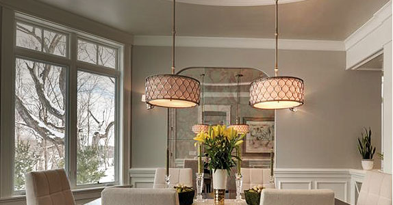 Dining Room Lighting Fixtures   Ideas at the Home Depot Contemporary Dining Room Lighting