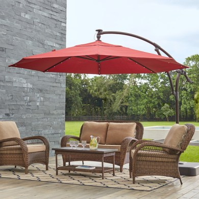 Patio Umbrellas   The Home Depot Patio Umbrellas by Style  Cantilever Umbrellas