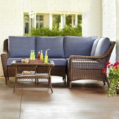 Wicker Patio Furniture Sets   The Home Depot Wicker Patio Furniture
