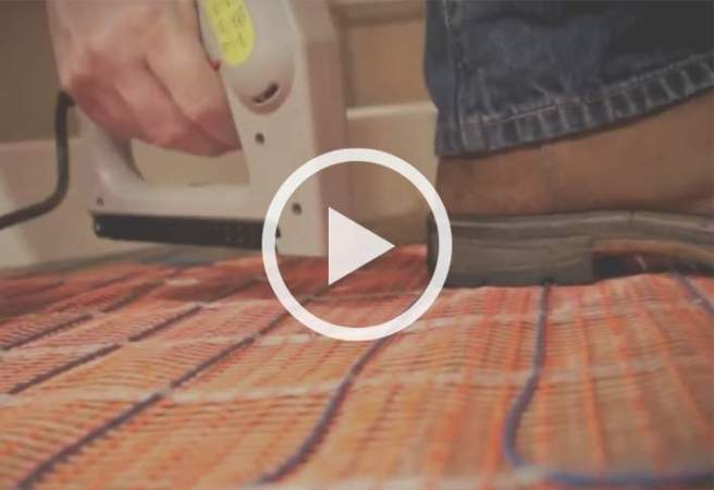 How to install Radiant Heat in Floors at The Home Depot Add warmth underfloor by installing radiant heat beneath your floors