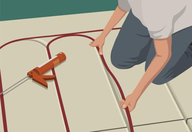 How to install Radiant Heat in Floors at The Home Depot ABOVE THE FLOOR HYDRONIC HEAT INSTALLATION