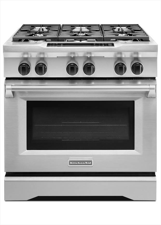 KitchenAid 51 Cu Ft Commercial Style Slide In Dual Fuel