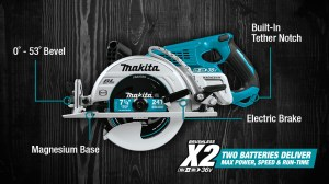 Makita 18Volt X2 LXT 50Ah LithiumIon (36Volt) Brushless Cordless Rear Handle 714 in