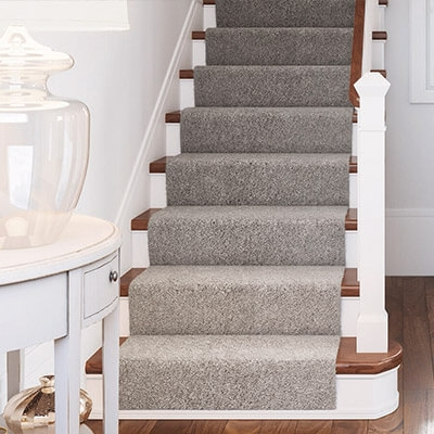 Carpet At The Home Depot | Carpet Squares For Steps | Kajaria Staircase | Stair Runner | Dean Wrap Around Treads | Communal Stairway | Flower Design