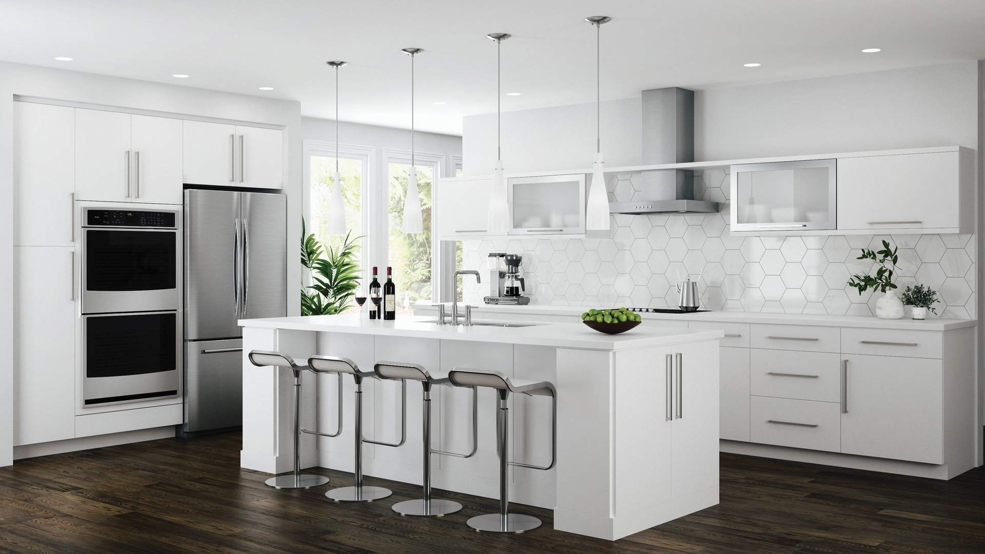 edgeley base cabinets in white