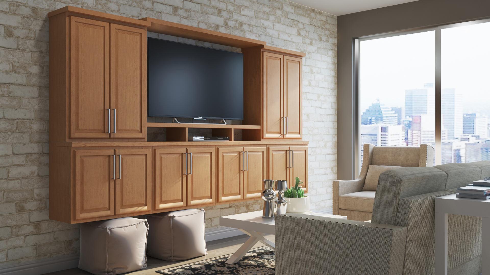 Hampton Wall Kitchen Cabinets In Medium Oak Kitchen