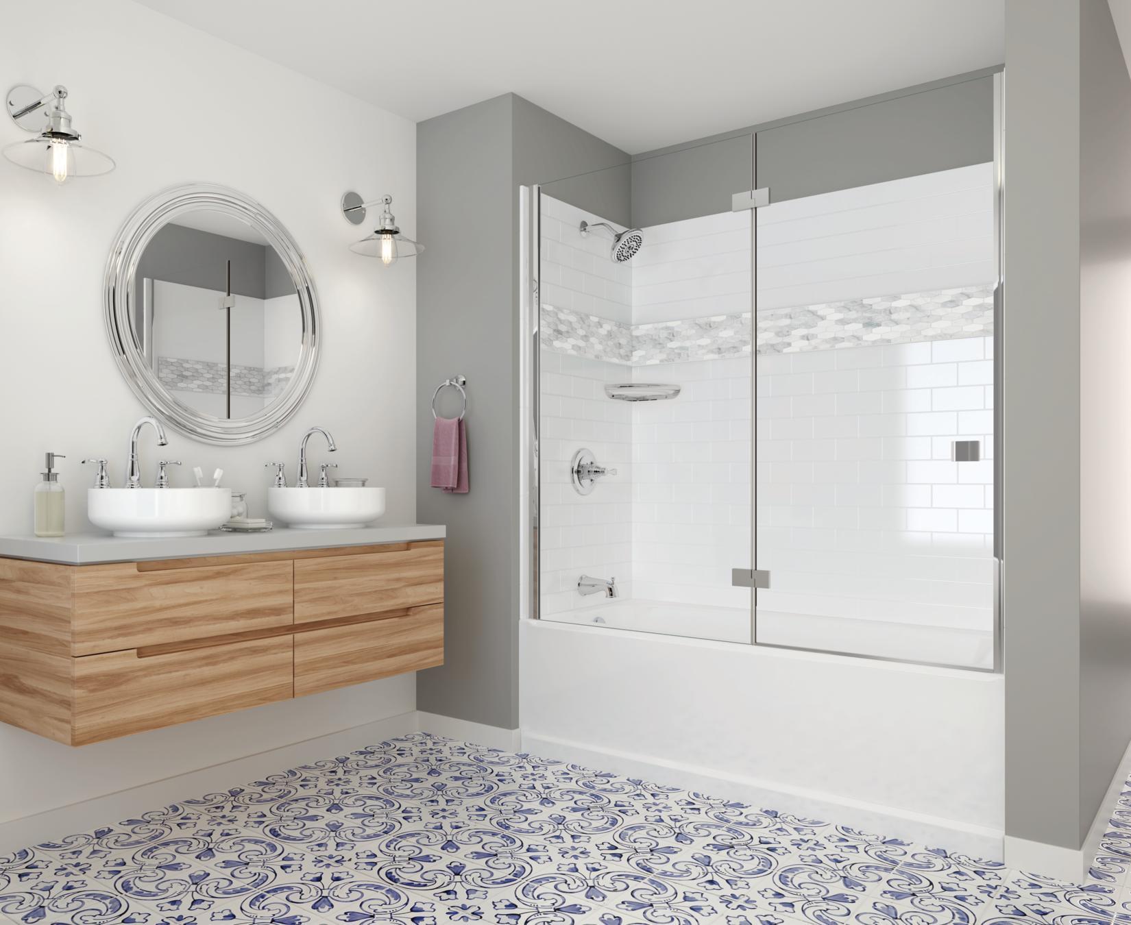 delta upstile semi customizable shower