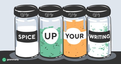 spice shakers that talk about writing