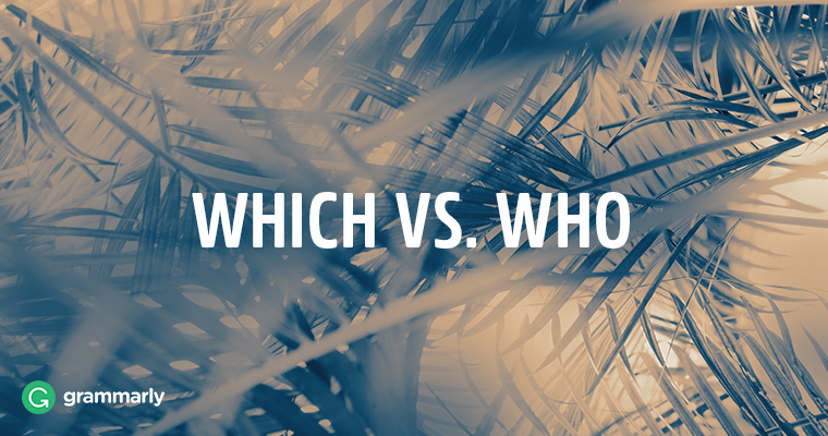 Which vs. who