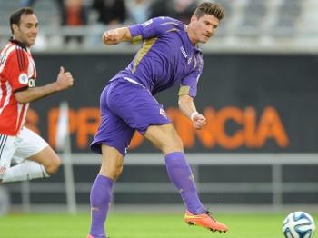 Mario Gomez Chuta Gol Fiorentina Estudiantes Copa EuroAmericana 26/07/2014