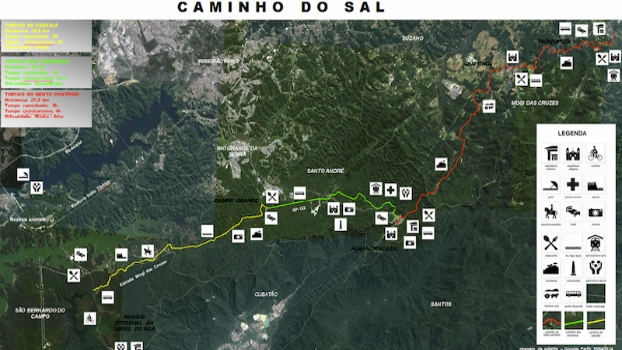 Confira o mapa da rota cicloturística