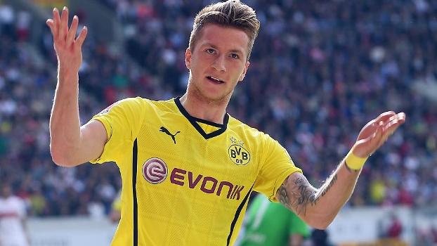 Reus gol Borussia Dortmund x Stuttgart Alemão 280314