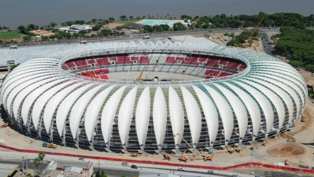 Vista aérea da cobertura do Beira-Rio