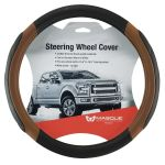Masque Brown And Black Truck Steering Wheel Cover