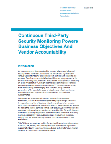 Continuous Third-Party Security Monitoring Powers Business Objectives & Vendor Accountability
