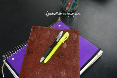 Bible notebook and writing pens