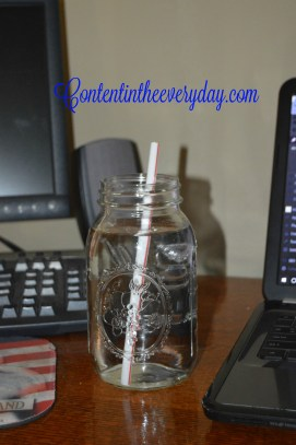 Jar filled with water