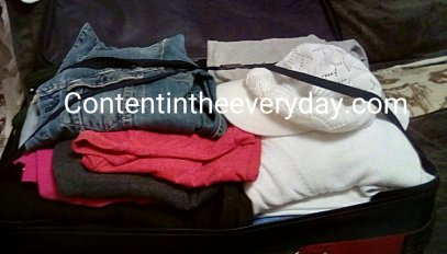 Suitcase Packed for a Trip